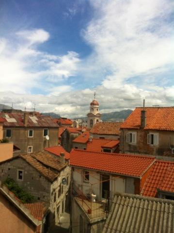 Blick aus unserem Zimmer Richtung Palast