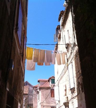 ... und überall die Wäsche!