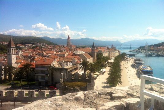 Blick von der Burg auf Trogir