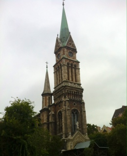 Kirche am Bakáts Platz