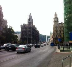 Blick vom Ferenciek tér zur Elisabeth-Brücke