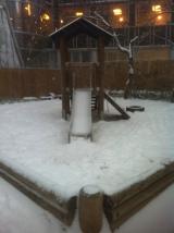 über ne Stunde im Schneetreiben