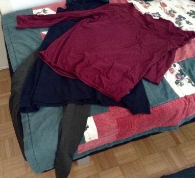 Die heutige Kleiderwahl...