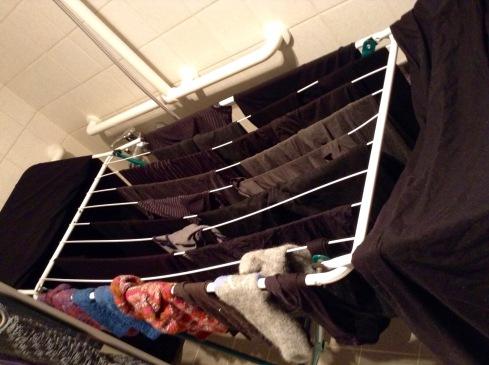 Wäsche aufhängen...