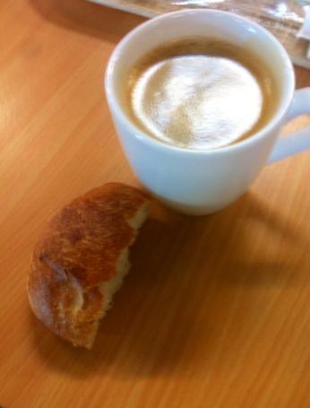 Frühstück am Flughafen Berlin