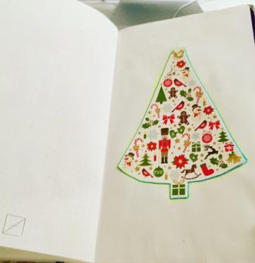 """7. Januar """"Statt meine liebsten weihnachtskarten wegzuwerfen oder rumliegen zu lassen, schneide ich die Motive aus und klebe sie in den ellakalender! Es ist so schön, dass sich selbst der weekly immer weiter und weiter gestalten lässt! """""""