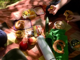 Picknick im Freibad