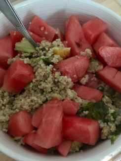 Couscoussalat die dritte aufgepeppt mit Wassermelone